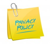 Privacy policy memo post illustration — Stock Photo