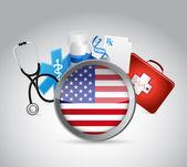 Us health insurance concept illustration design — Zdjęcie stockowe