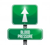 Blood pressure road sign illustration — Stock Photo