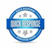 Quick response seal illustration design — Stock Photo
