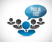 Paid in full message sign illustration design — Stock Photo