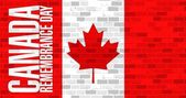 Brick wall canada remembrance day flag — Stock Photo