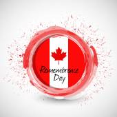 Canada remembrance day ink sign illustration — Stock Photo