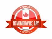 Canada remembrance day seal illustration design — Stock Photo