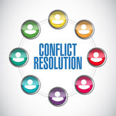 Conflict resolution people diagram illustration — Stock Photo