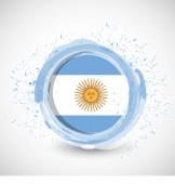 Argentina ink flag illustration design — Stock Photo