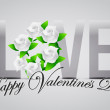 Love happy valentines day card illustration — Stock Photo #64715541