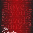 Happy valentines day card illustration design — Fotografia Stock  #64716109