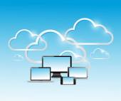 Cloud computing modern technology network — Стоковое фото