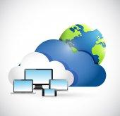 International cloud computing network — Стоковое фото