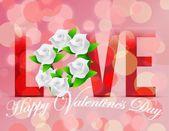 Love happy valentines day card illustration design — Stock Photo