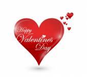 Happy valentines day hearts sign illustration — Stock Photo