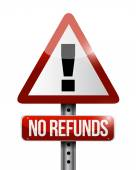 No refunds warning sign illustration design — Stock Photo
