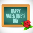 Happy valentines day board sign illustration — Stock Photo #64795621