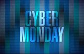 Cyber monday binary sign illustration design — Стоковое фото