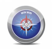 Win win compass destination illustration — Stock Photo