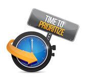 Time to prioritize concept illustration design — Stock Photo