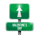 Valentines day road sign illustration design — Stock Photo