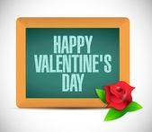 Happy valentines day board sign illustration — Stock Photo