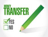 Иллюстрация утверждения перевода денег — Стоковое фото