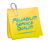 Reliability service quality memo illustration — Stock Photo