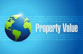 Propriété valeur globe signe illustration design — Photo