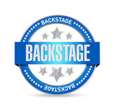 Backstage seal illustration design — Stock Photo