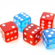 Red and blue dices — Stock Photo #65319435