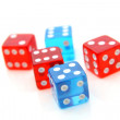 Red and blue dices — Stock Photo #65319615