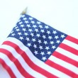 U.S. Flag blowing in a strong wind — Stock Photo #65413345