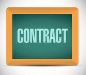 Contract board sign illustration design — Stock Photo