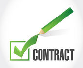 Contract check mark illustration design — Stock Photo