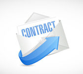 Contract mail illustration design — Stock Photo
