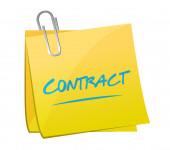 Contract post illustration design — Stock Photo