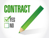 Contract approve check mark illustration design — Stock Photo