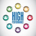High performance people diagram illustration — Stock Photo #65804061
