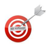 High performance target illustration design — Stockfoto