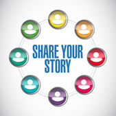 Share your story people diagram illustration — Stock fotografie