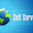 Globe self service illustration design — Stock Photo #65942331
