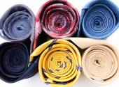 Set of colorful ties close-up — Stockfoto