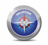 Valuation compass illustration design — Stock Photo