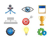Strategy concept icon set illustration — Stock Photo
