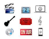 Entertainment concept icon set illustration — Stock Photo