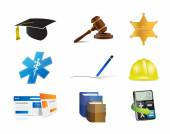 Career jobs concept icon set illustration — Stock Photo