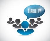 Liability team message illustration design — Stock Photo