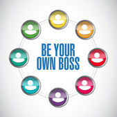 Be your own boss people diagram — Stock Photo