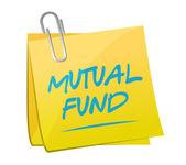 Mutual fund memo post illustration design — Stock Photo