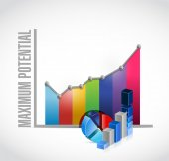 Maximum potential business graph sign concept — Stock Photo