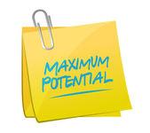 Maximum potential memo sign concept illustration — Stock Photo