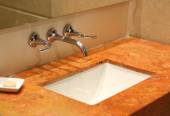 A luxury bathroom sink — Stock Photo